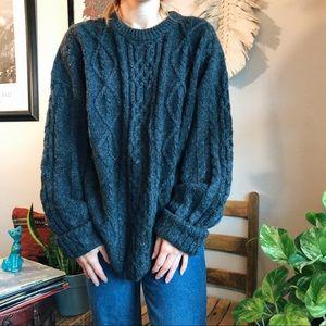 oversized vintage wool sweater